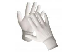 KESZTYŰ BOOBY FINOM NYLON 0104000699070-S  511104000699070  Zsugorított nylonból készült, fehér varratmentes kötött kesztyű rugalmas mandzsettával.