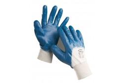 KESZTYŰ HARRIER PAMUT NITRIL 10-ES 0107000499100  511107000499100  Kötött pamutkelméből varrt, nitrilbe félig mártott kék kesztyű rugalmas kötött mandzsettával.