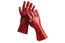 KESZTYŰ REDSTART PVC-BE MÁRTOTT 35CM 10-ES 0107001299100  511107001299100  Kötött pamutkelméből varrt, PVC-be mártott kesztyű. Teljes hossza: 35 cm.