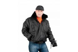 KABÁT PILOT  FEKETE L 0301002260003  511301002260003  Meleg bélésű, vízhatlan dzseki gallérba rejthető kapucnival és kivehető béléssel.
