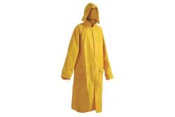 ESŐKABÁT NEPTUN SÁRGA L  0311001270003  511311001270003  Esővédő kabát csuklyával, lehegesztett varratokkal, praktikus tartóban.