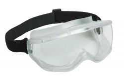 VÉDŐSZEMÜVEG PANOLUX 0501037699999  511501037699999  Anatómikus kialakítású széles látószögű szemüveg puha műanyag kerettel, 1BT osztályú polikarbonát látómezővel, fedett szellőzőnyílással. Védelmet nyújt fröccsenő folyadékok ellen, korrekciós szemüveg fölött is viselhető.
